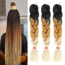 Navifah-trenzas Jumbo de Kanekalon para cabello Afro, extensiones de pelo degradado, mechones de Color, Bug, Color rosa, 100g, 24 pulgadas