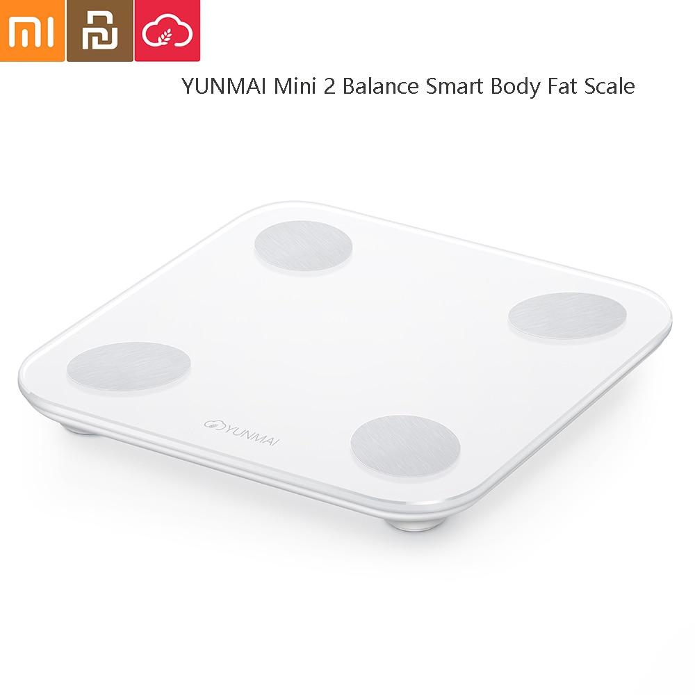 YUNMAI Mini 2 Balance Smart Body Fat Scale Intelligent Data Analysis APP Control Digital Weighing Tool From Youpin