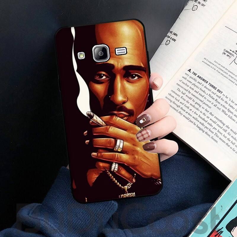 Rapper 2pac Singer Tupac Phone Case Cover for Samsung J6 J7 J2 J5 prime J4 J7 J8 2016 2017 2018 DUO core neo M20