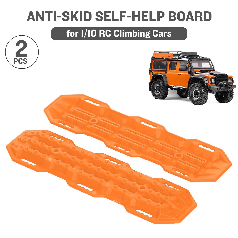 2 шт. противоскользящая доска самопомощи для 1/10 RC Гусеничный автомобиль Defender Bronco RC4WD D90 Axial Scx10 90046 CC01 VS4