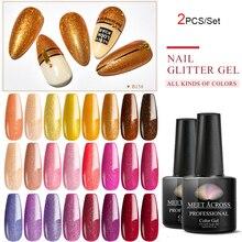 MEET ACROSS conjunto de esmaltes de uñas de Gel Hybrid barniz todo para manicura arte Soak Off UV Gel barniz Semi permanente acrílico Gel Lak