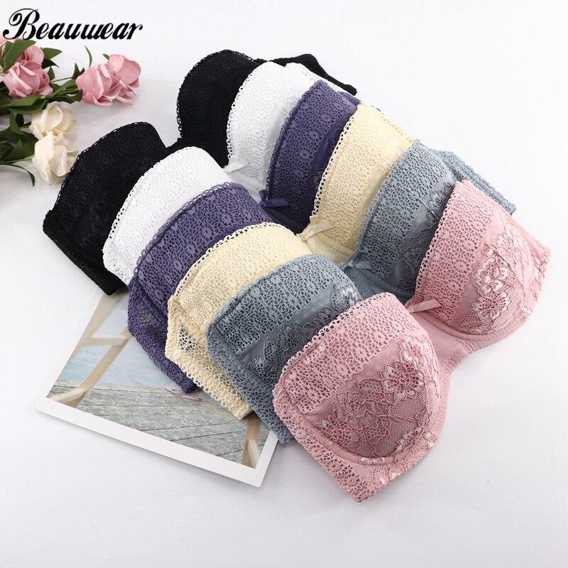Beauwear 2019 S/S Sexy Spitze Halbe Tasse Bh für Frauen Bügel-bademode Dünne Atmungsaktive Komfortable Unterwäsche 6 Farben Dessous 34A-40D