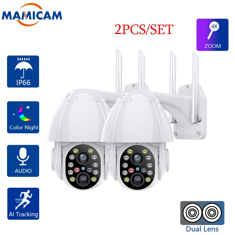كاميرا 2MP IP واي فاي سرعة الصوت قبة PTZ كاميرا الأمن الأشعة تحت الحمراء للرؤية الليلية P2P كاميرا CCTV اللاسلكية مع فتحة للبطاقات SD