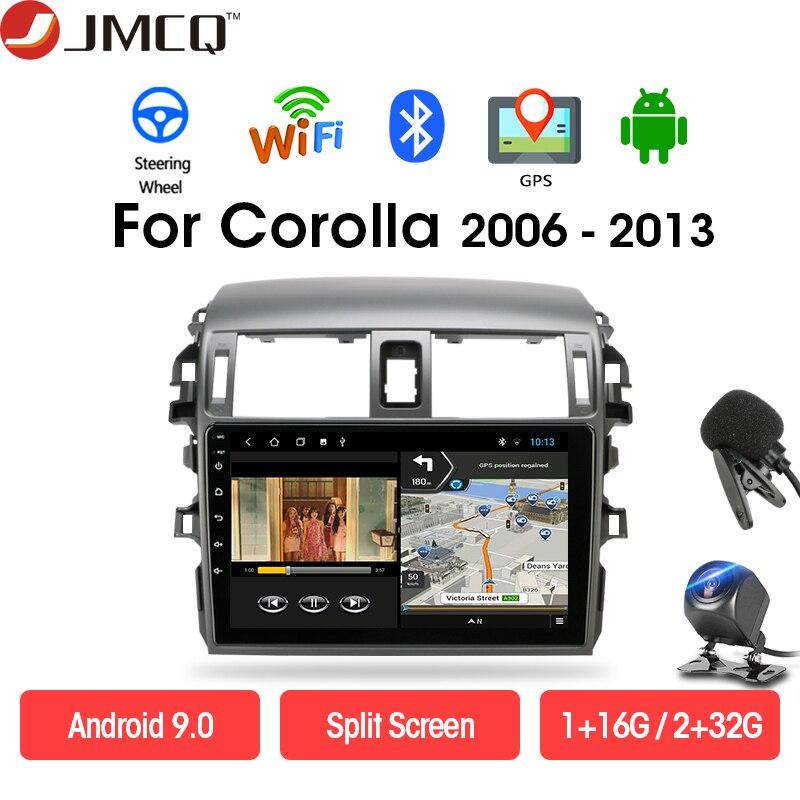 JMCQ Radio de coche reproductor Multimedia para Toyota Corolla E140/150/2006-2013 Android 9,0 DSP 2 Unidad Central din navegación GPS WIFI