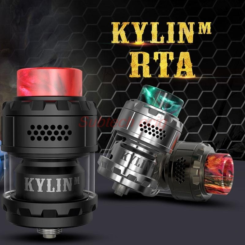 New yftk Kylin M RTA Rebuildable 3ml/4.5ml 24mm Tank Atomizer Top honeycomb airflow Large Build Deck Vaporizer vape Tank vs zeus