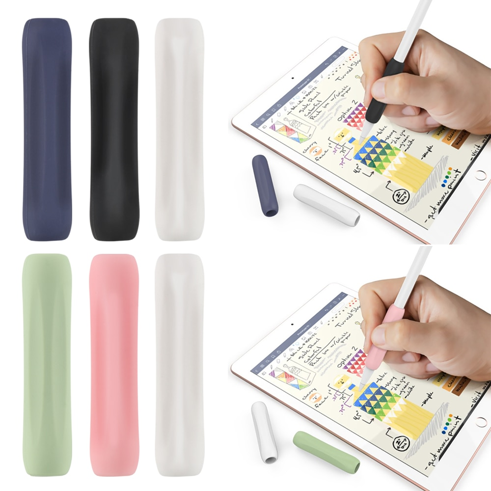 3Pcs Silicone Pouch Protective Cover For Apple Pencil 1 2 Anti-scratch Touch Screen Pen Case for iPa