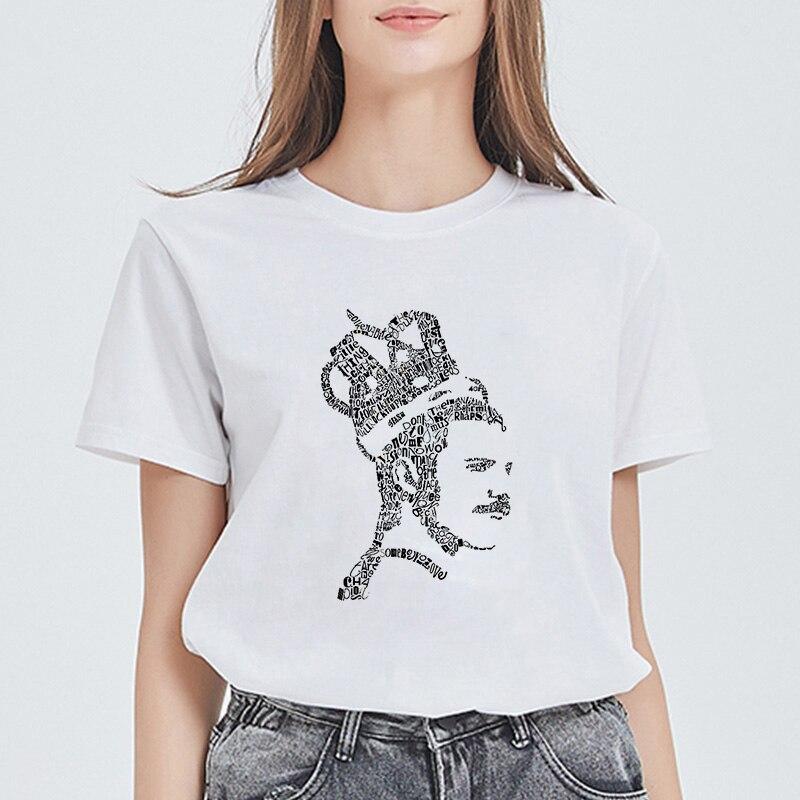 Showtly reina Freddie Mercury banda T camisa las mujeres Harajuku Ullzang camiseta de reina de la moda camiseta 90s camiseta Rock Top Tees
