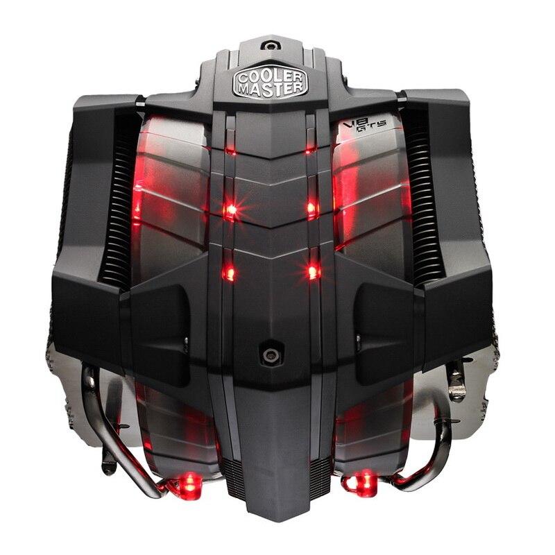 ل V8gts 8 أنابيب الحرارة وحدة المعالجة المركزية المبرد سطح المكتب التوأم مروحة 2011 ل X299 2066am4