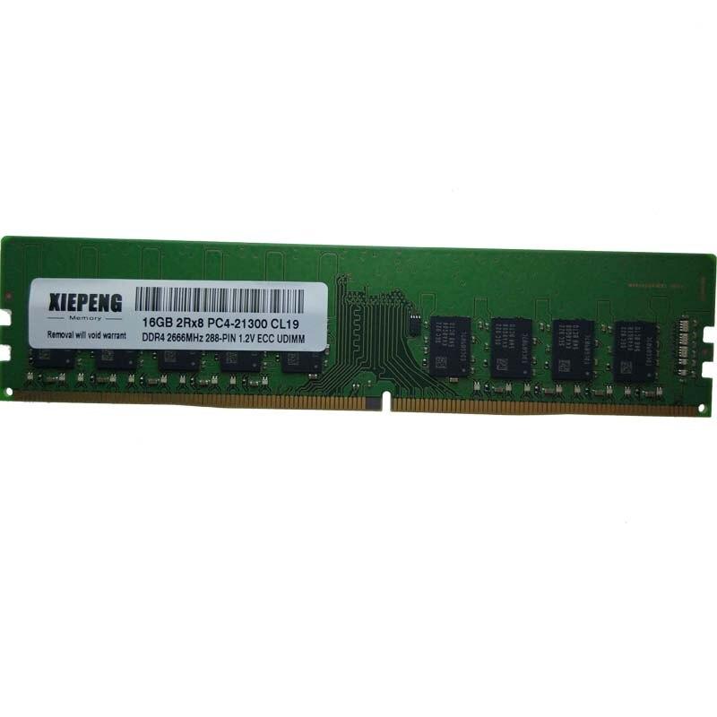 Para Dell precisión 3430 3630 Torre 7820 RAM 16GB 2rx8 PC4-21300 2666 MHz ECC Unbuffered GB 16GB 32GB DDR4 2400 MHz ECC memoria UDIMM