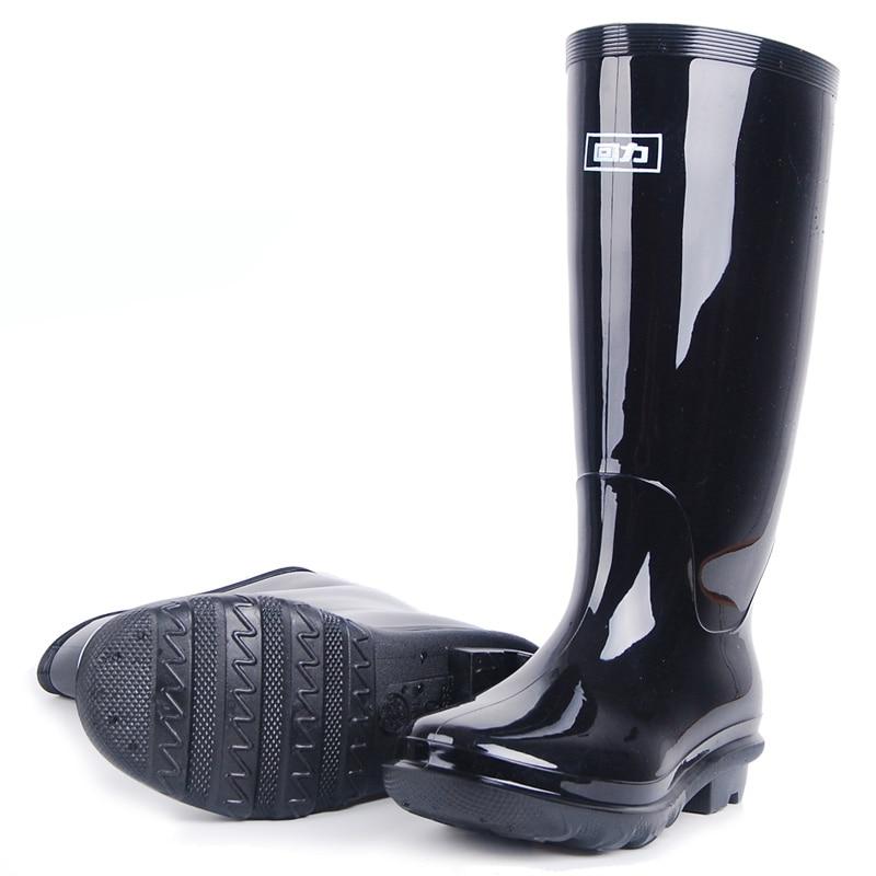 Menwellies الأسود العازلة الكالوشات احذية المطر المطاط وحيد Gumboots أحذية الصيد بوت أحذية المطر أحذية الرجال