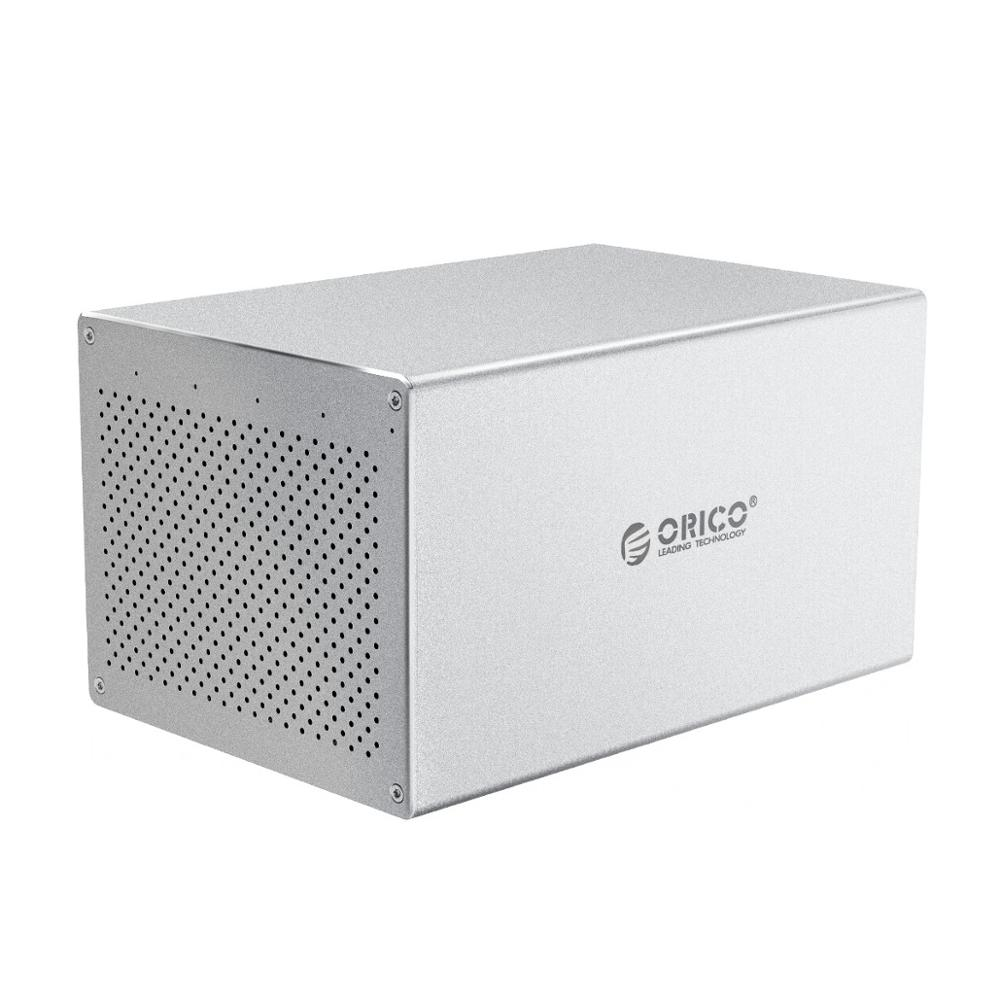 ORICO Honeycomb Cooling Multi Bay 3.5'' Type-C Aluminum HDD Docking Station 32-80TB HDD Enclosure With 7 Raid Mode SATA to USB C enlarge