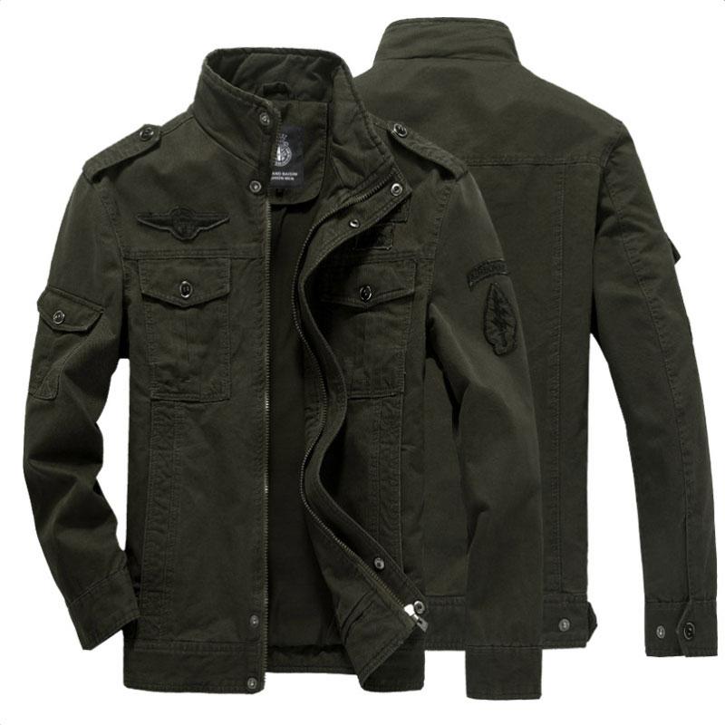 2021 Мужская Высококачественная куртка из 100% хлопка, ветровка, куртки в стиле милитари, армейская одежда, верхняя одежда, летная куртка, Мужск...