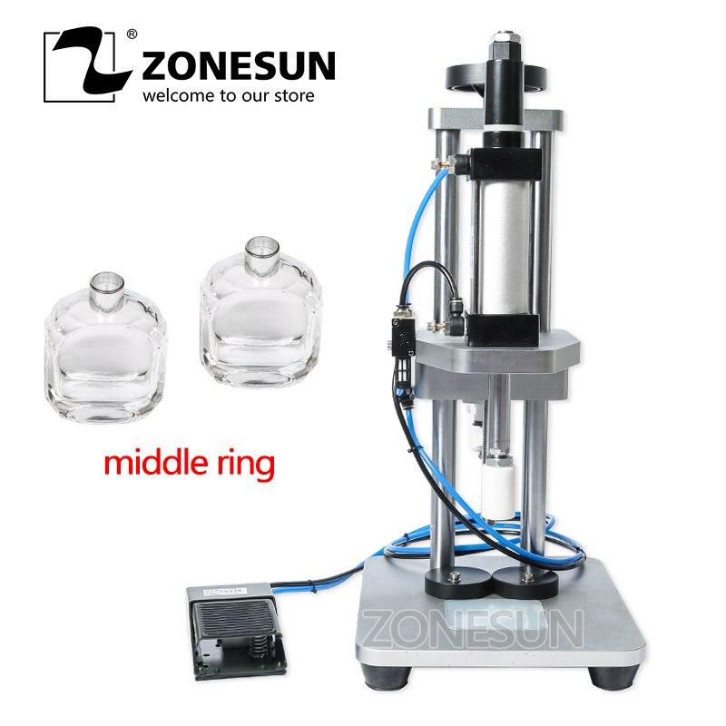 ZONESUN perfume glass bottle capping machine perfume crimping machine perfume collar pressing machine
