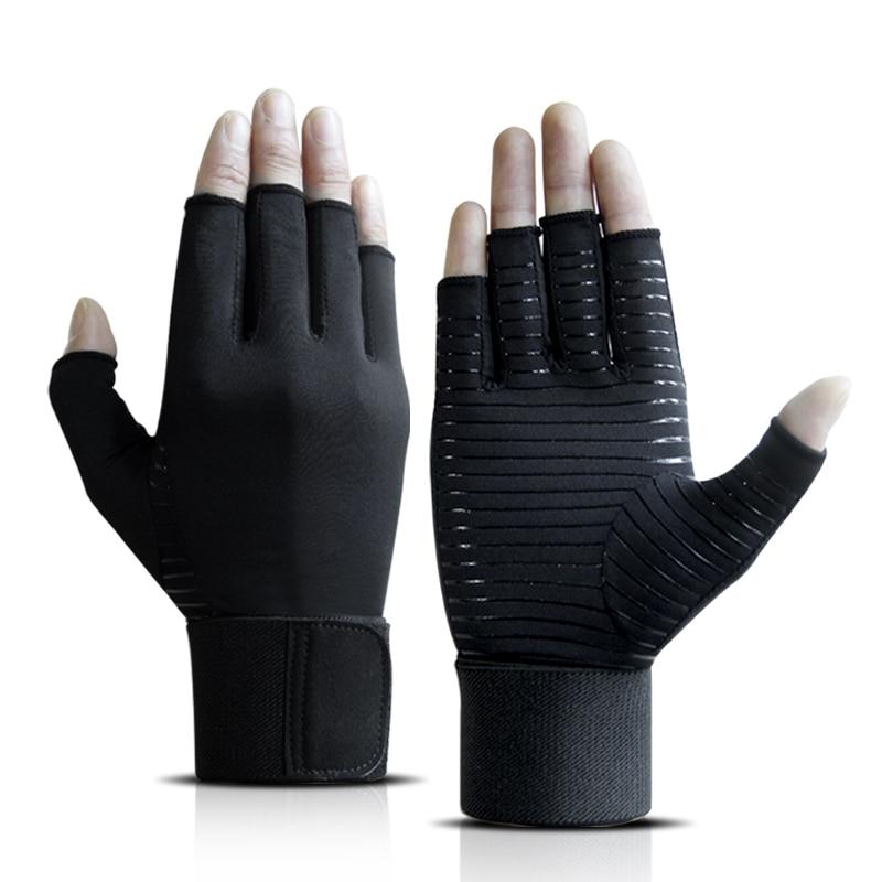 Перчатки для фитнеса, мужские тренировочные перчатки для занятий спортом, мужские перчатки для защиты запястья, Нескользящие перчатки с по...