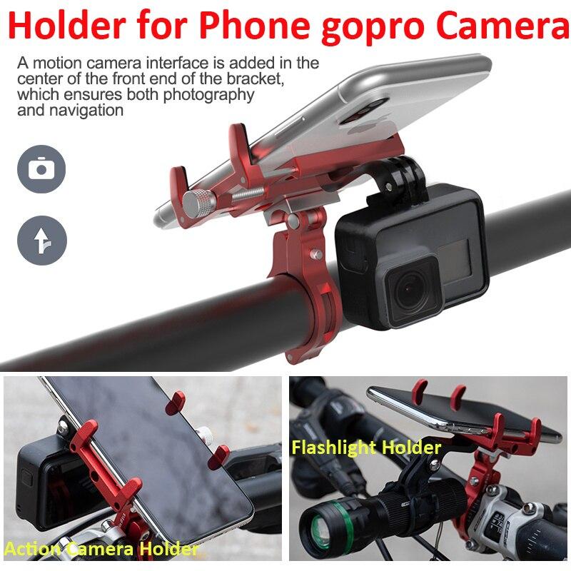 GUB G-99 دراجة حامل هاتف حامل كاميرا المصباح LED مصباح يدوي حامل الذكية الهاتف الخليوي قوس لتحديد المواقع آيفون شاومي سامسونج