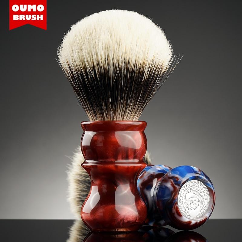 OUMO BRUSH - Fire Venus badger shaving brush with Manchuria/ACE/SILK/HOOK/WT