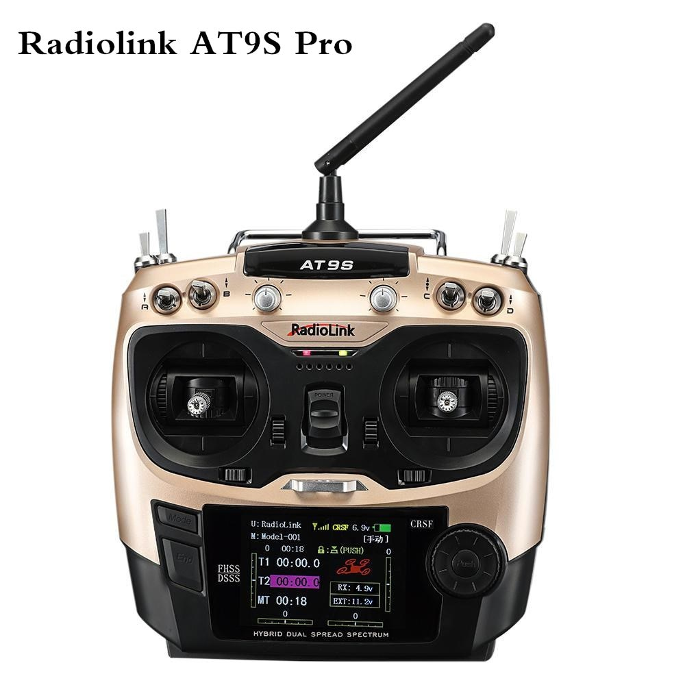 2020 جديد Radiolink AT9S برو TX 10/12CH RC راديو تحكم RC الارسال مع R9DS RX 2.4G استقبال ل سباق Drone