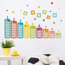Dessin animé enfants 99 Table de Multiplication Math jouet Stickers muraux pour enfants chambre bébé apprendre éducatif