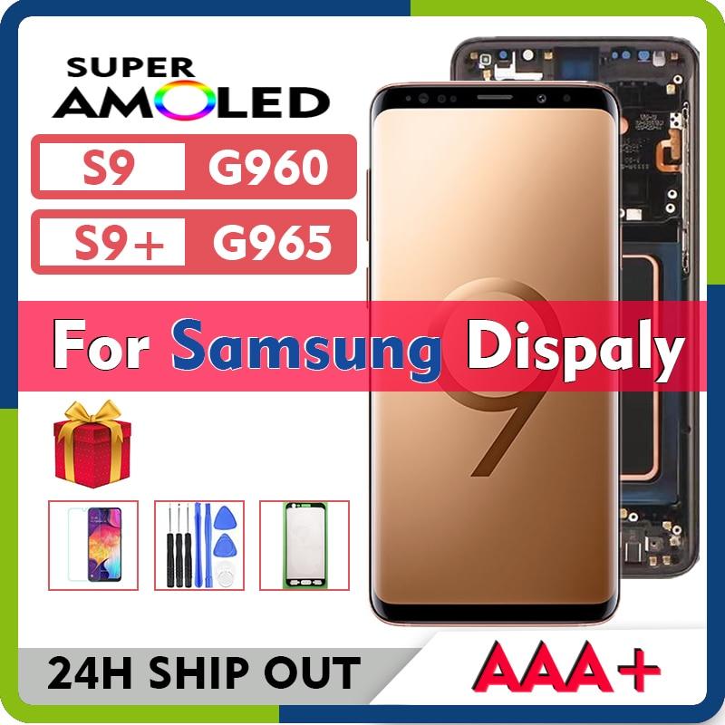 سوبر أموليد لسامسونج غالاكسي S9 SM G960F G960U G960W G960N G960X S9 + زائد شاشة LCD مع شاشة تعمل باللمس محول الأرقام الجمعية