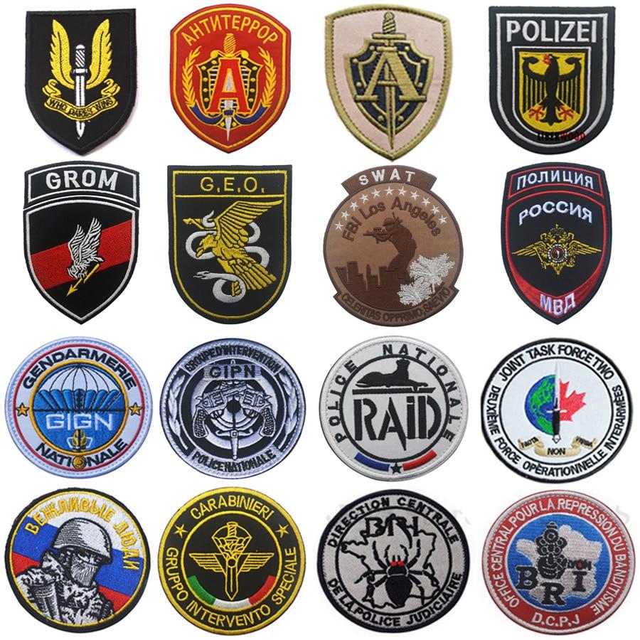 Британский немецкий французский русский Itly Польша спецназ Сват патч армейский военный боевой Эмблема патч значки