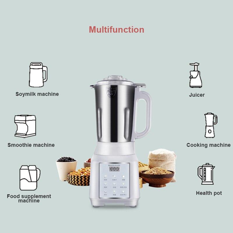 ماكينة حليب الصويا الصغيرة 1000 مللي أتوماتيكية بالكامل متعددة الوظائف عصارة سطح المكتب أدوات المطبخ المنزلية كوب الطبخ فلتر التدفئة خالية