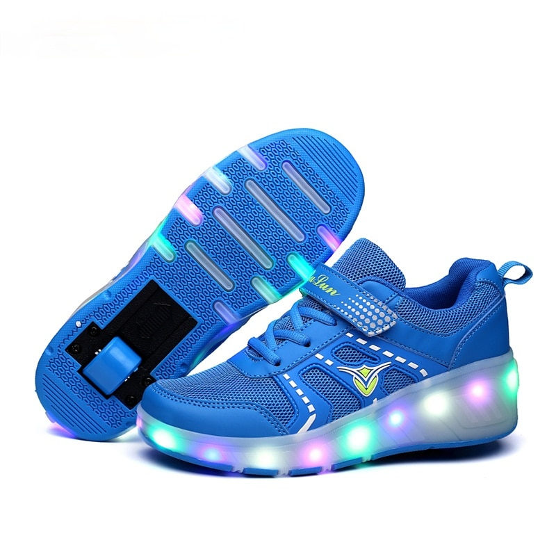Sneakers Roller Shoes with Two Wheels Wheelys Led Shoes Kids Girls Children Boys Light Up Luminous Glowing Illuminated 2021 enlarge