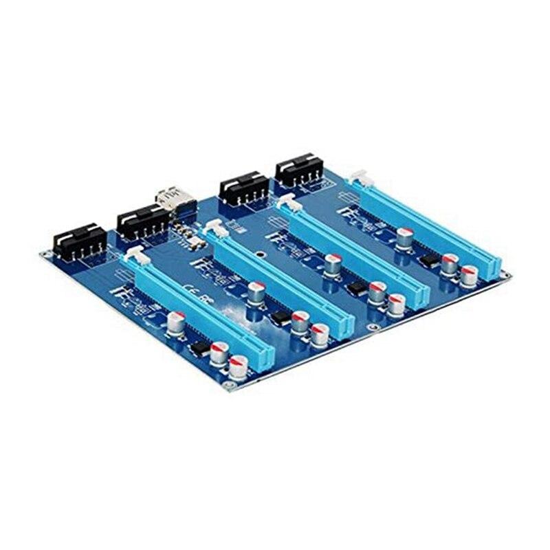 PCI-E X1 إلى 4PCI-E X16 التوسع كيت 1 إلى 4 ميناء PCI اكسبرس التبديل المضاعف محور الناهض بطاقة ل BTC مينر التوسع