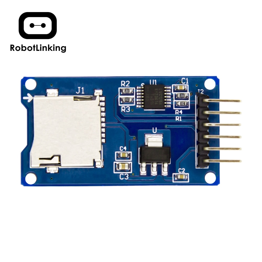 Микро-sd карта микро-sdhc Мини TF адаптер считыватель модуль для Arduino