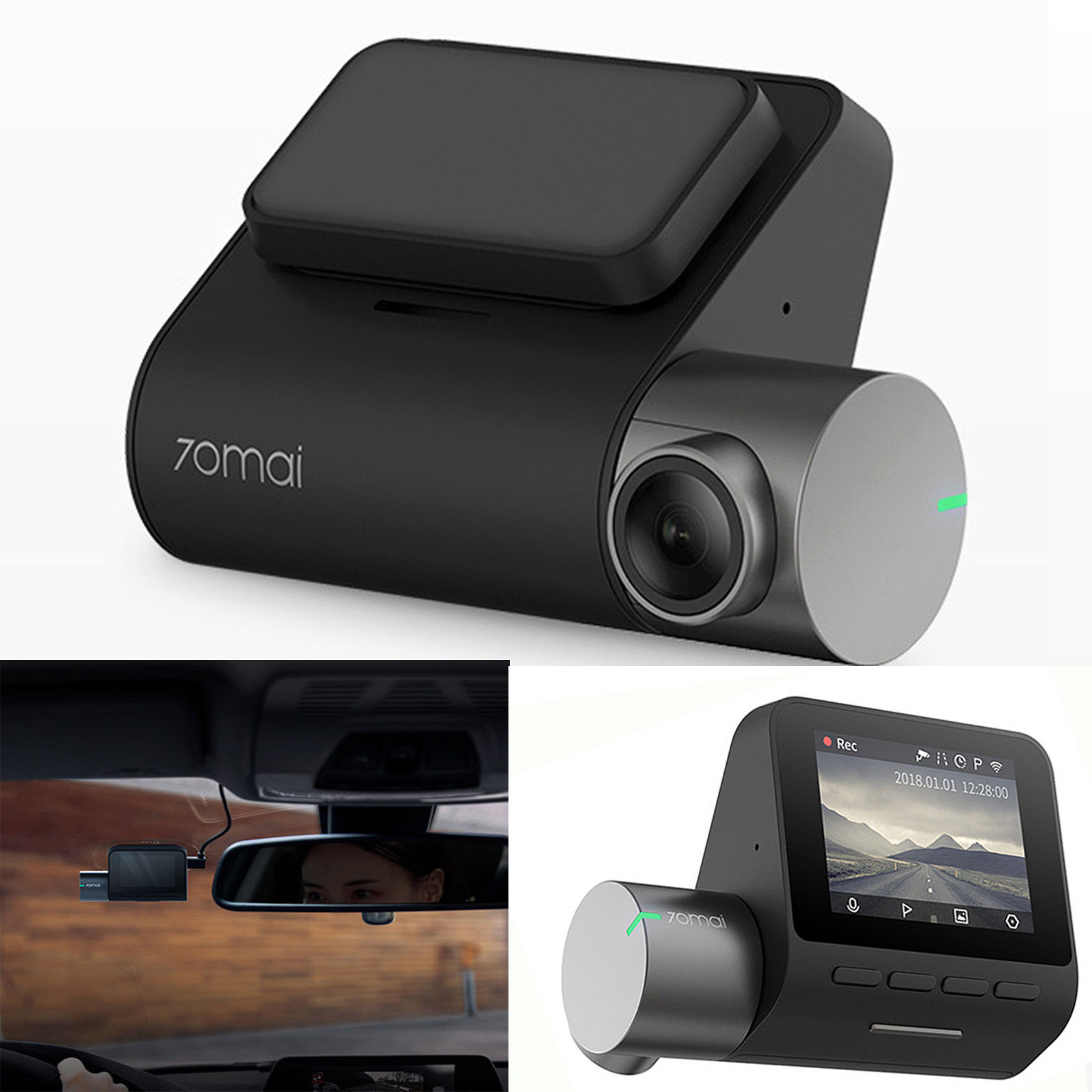 Xiaomi MIJIA 70MAI PRO cámara de salpicadero inteligente 140 grados SONY IMX335 1944P WiFi cámara de monitoreo de aparcamiento grabadora de conducción