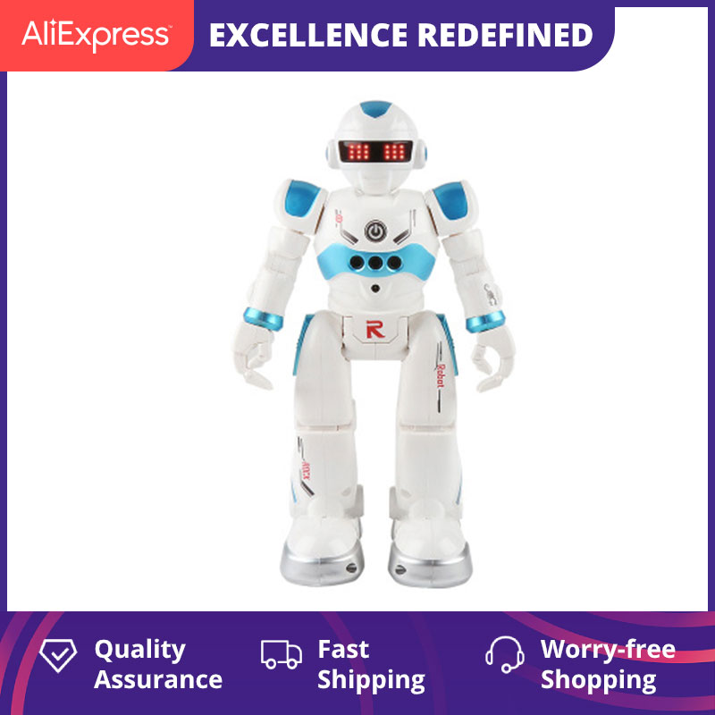 Remote Control Robot Multi-function USB Charging Children's Toy RC Robot Will Sing Dance Action Figu