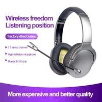 bluetooth compatible v5 0 wireless sports headset active noise headset with micro for pc suitable for playing games calling new