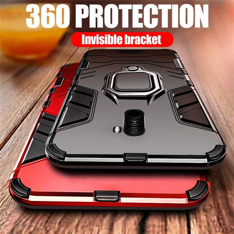 4 in 1 Armor For Xiaomi Pocophone F1 Case Shockproof Protective Back Cover For Xiomi Poco F1 Case Ma