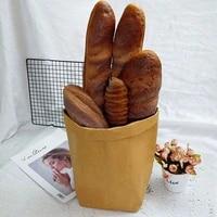 artificial simulation black rye bread store shop decor loaf rolls danish pastry french baguette miche croissant bread model