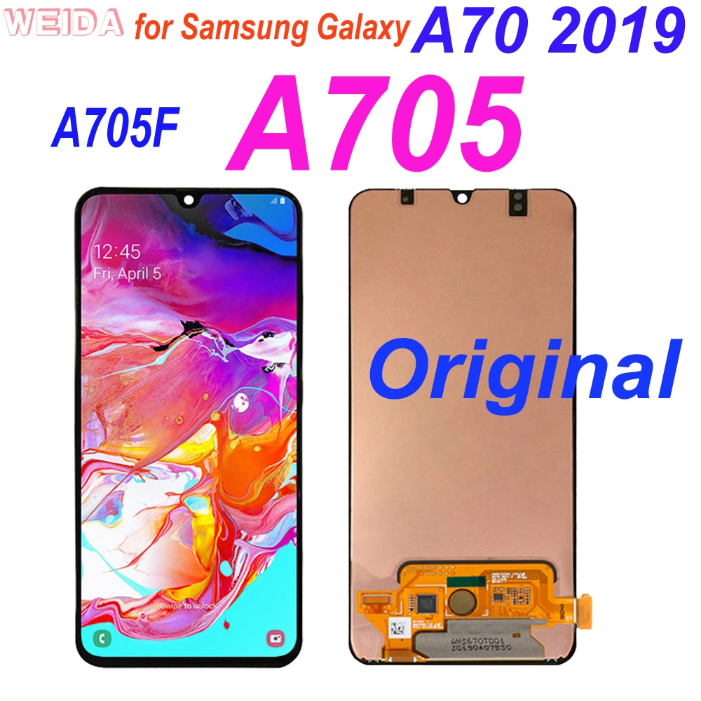 Original A70 LCD for Samsung Galaxy A70 2019 A705 A705F SM-A705F LCD Display Touch Screen Digitizer Assembly for A705 Display