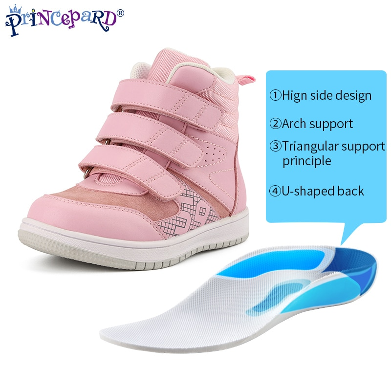 Princepard High Quality Children Baby Shoes Fashion Casual Boot Girls Kids Orthopedic Shoes for Boys Girls With Arch Support enlarge