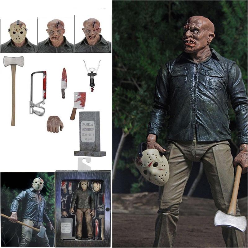 7 дюймов NECA Friday The 13th Voorhees The Final Chapter Pamela Jason экшн-фигурка игрушка ужас Хэллоуин подарок