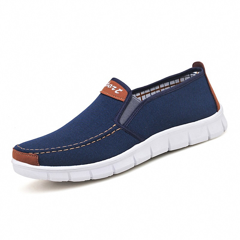 New Canvas Shoes Trend Fashion Cloth Shoes Sports Breathable Lazy Sneakers Peas Shoes Men