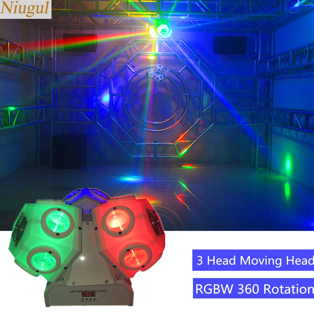 18x10W 3 cabezal LED de haz de luz cabeza móvil DMX512 RGBW LED LUZ DE FÚTBOL DJ/Bar/ fiesta/espectáculo/rotación de 360 grados iluminación de escenario