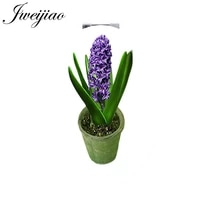 youhaken lavender potted accessories oval tools pu portable mirror spring fresh flowers leaves plant espejo for girls party fs55
