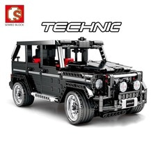 SEMBO 1343pcs RC Creator Expert Technic SUV Car G500 Remote Control Building Blocks Bricks Set Kid Playmobil Toys Children Gift