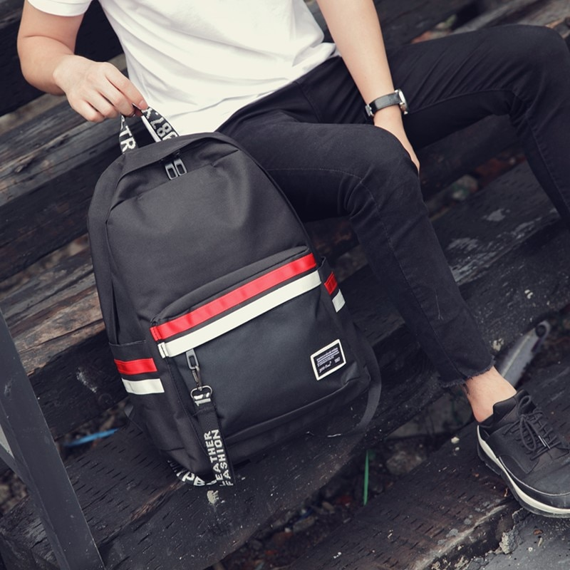 Men's Fashion Backpack Korean Harajuku Trend Wild Simple High School Students New Camping Portable Backpack Business Bag
