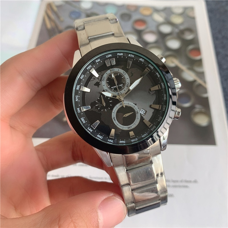 Classic Luxury Brand Business leisure sports Men's Watch Stainless Steel Six stitches Waterproof dat