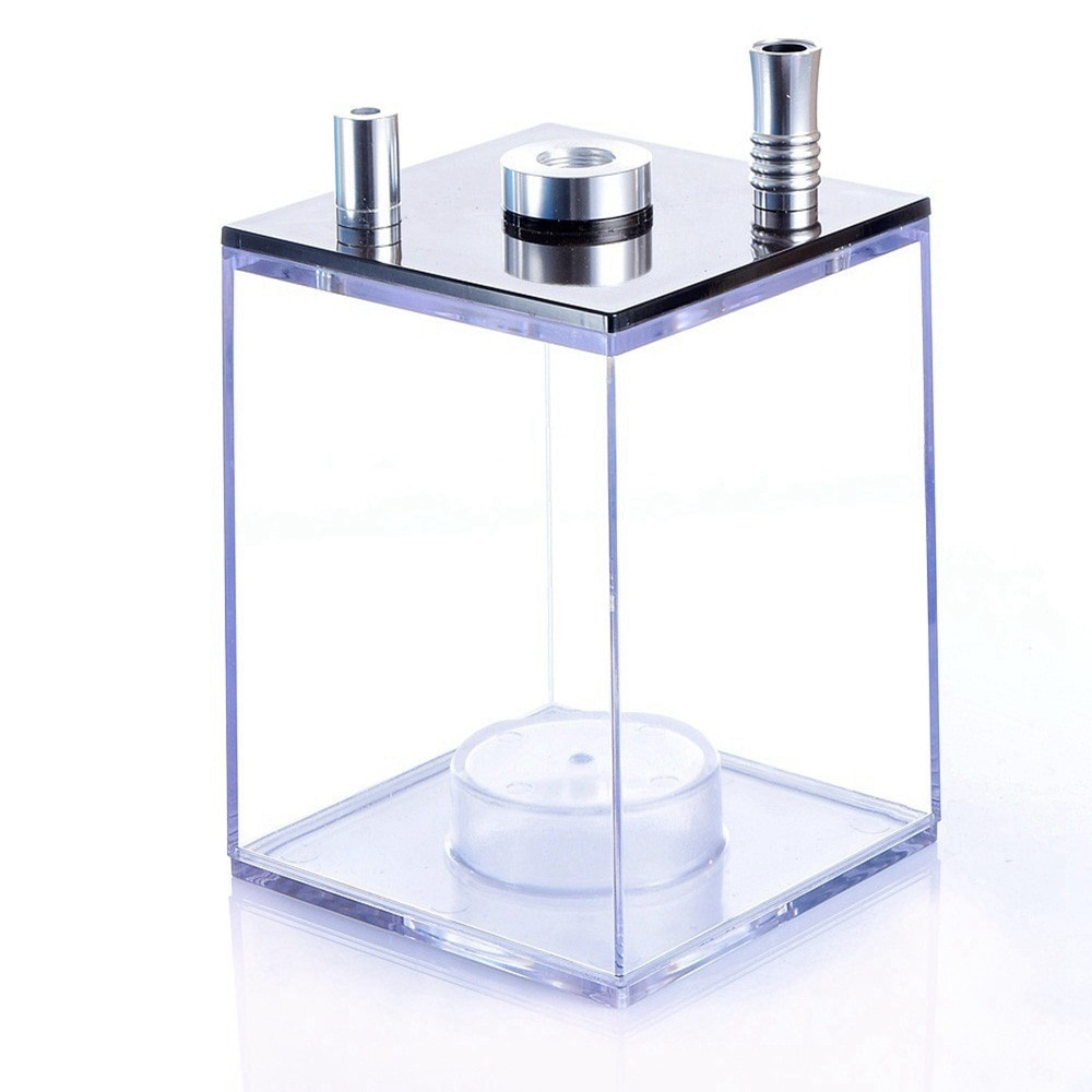 Clear Acrylic Hookah Set With LED Light Fashion Narguile Chicha Sheesha Box include Silicon Bowl&Clip&Pipe Hose Shisha Pipe enlarge