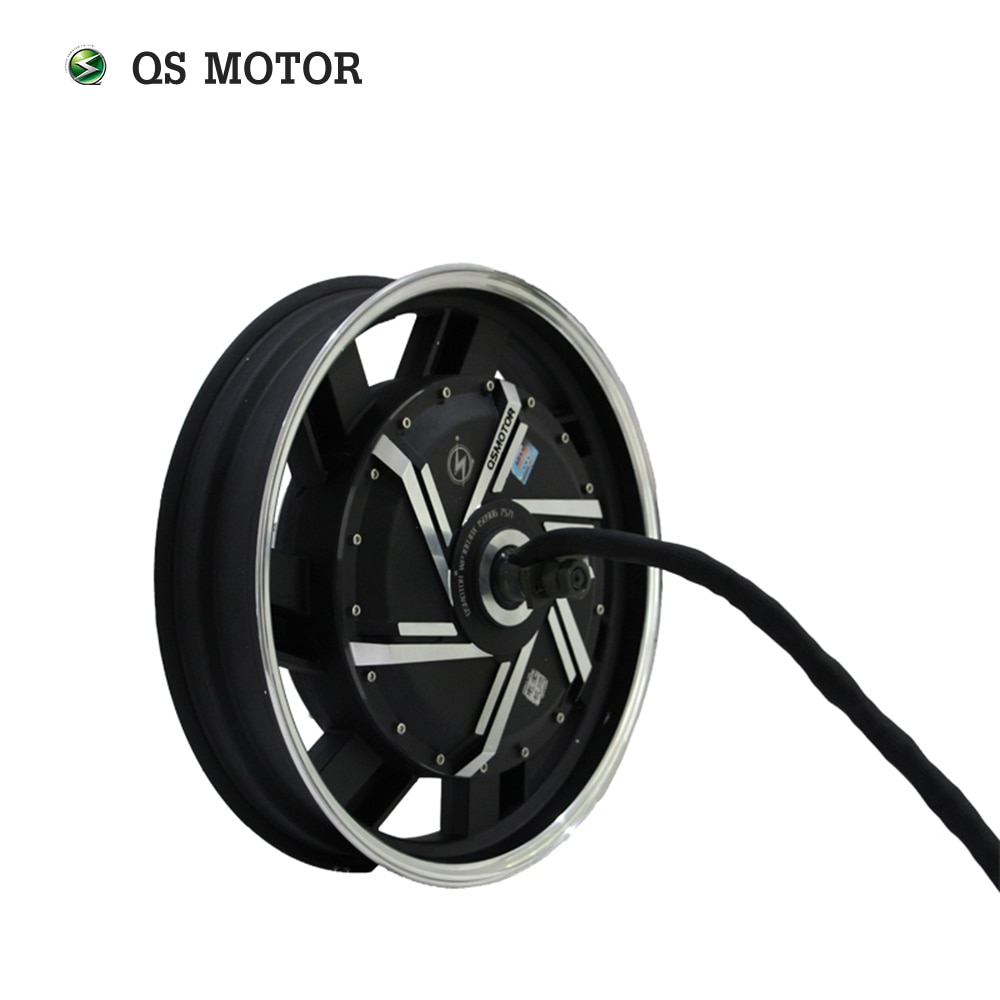 QS MOTOR 17inch 8000W 273 50H V3 20kW Peak Brushless DC Electric Scooter Motorcycle Hub Motor kits with kelly controller enlarge