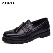 Men Leather Shoes Fashion Summer Men's Loafers Luxury Tassels Slip On Brown Black Formal Men Dress O