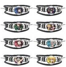 Anime Kimetsu No Yaiba Cosplay accessoires de déguisement Bracelet démon tueur Kamado Tanjirou Kamado Nezuko PU verre Bracelet bijoux