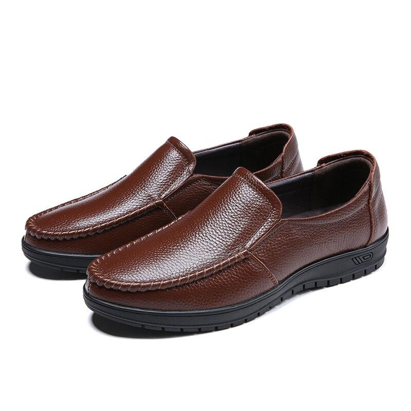 Zapatos formales De cuero genuino para Hombre, mocasines masculinos, calzado De negocios...