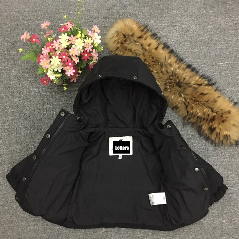 2021 Thick Winter Jacket Kids Down Warm  Boys Coats Natural Fur Hoodie Girls Parkas Clothes Short Windproof Snowsuit Ourfits enlarge