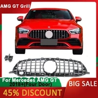 for benz amg gt 2018 t8 front grill front bumper racing grille modified 4 doors gt modified gt grid car accessories
