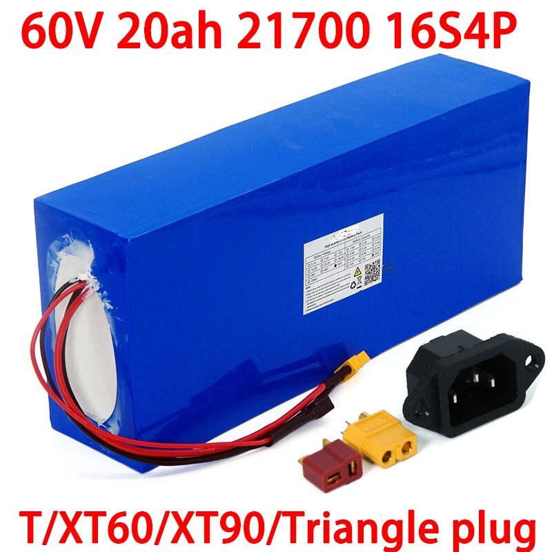 LiitoKala 60 فولت 20 أمبير 21700 16s4p سكوتر كهربائي bateria 60 فولت 20 أمبير دراجة كهربائية بطارية ليثيوم 1000 واط 2000 واط بطاريات ebike